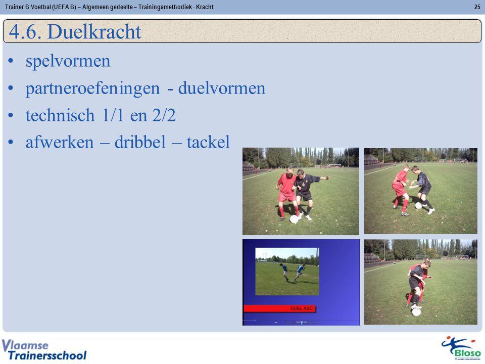 Trainer B Voetbal (UEFA B) – Algemeen gedeelte – Trainingsmethodiek - Kracht25 4.6.