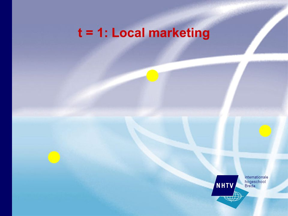 internationale hogeschool Breda t = 1: Local marketing