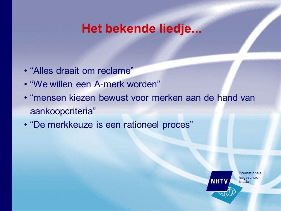 internationale hogeschool Breda Het bekende liedje...