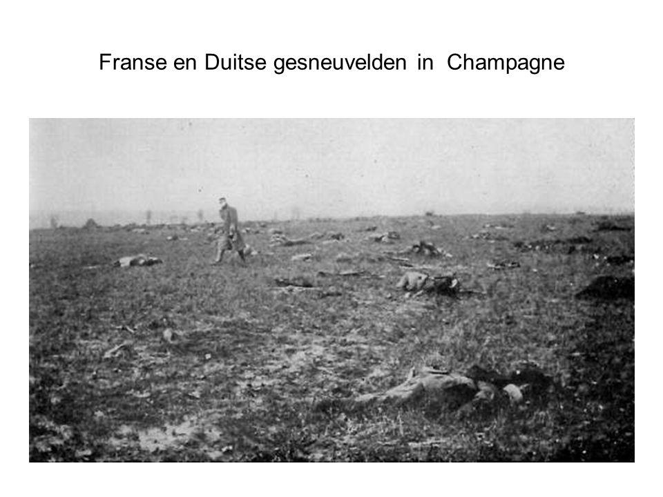 Franse en Duitse gesneuvelden in Champagne