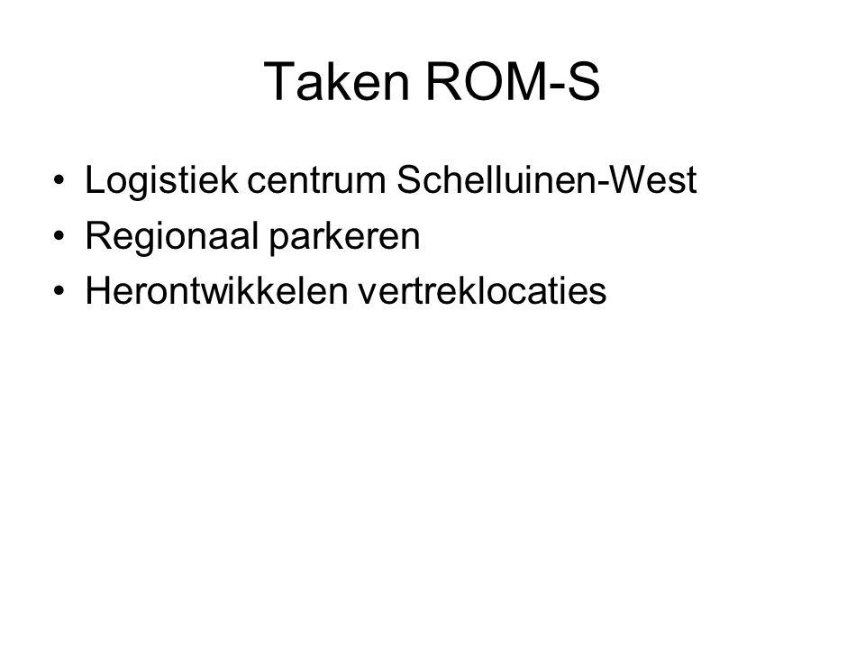 Taken ROM-S Logistiek centrum Schelluinen-West Regionaal parkeren Herontwikkelen vertreklocaties