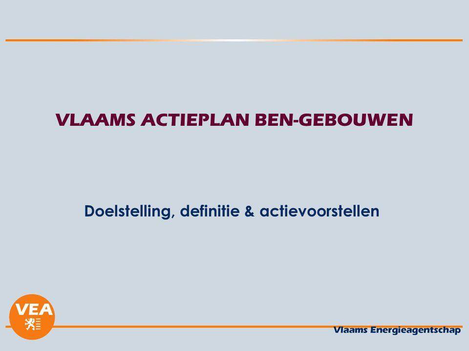 VLAAMS ACTIEPLAN BEN-GEBOUWEN Doelstelling, definitie & actievoorstellen