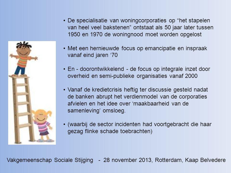 Na het Corpovenista-rapport 'Tussen droom en daad' uit 2010 startte de Vakgemeenschap Sociale Stijging in met een zelfkritische agenda.