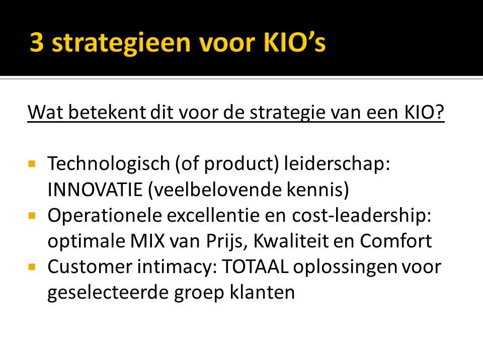Wat betekent dit voor de strategie van een KIO.