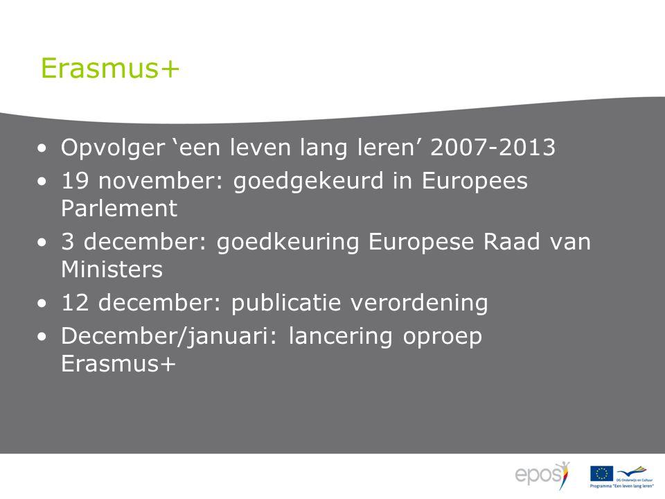 Velden Comenius: schoolonderwijs Erasmus: hoger onderwijs Erasmus Mundus: HO met partnerlanden Leonardo da Vinci: beroepsonderwijs en -opleiding Grundtvig: volwasseneneducatie Youth in Action: jeugd Sport