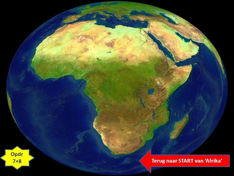 Opdr 7+8 Terug naar START van 'Afrika'