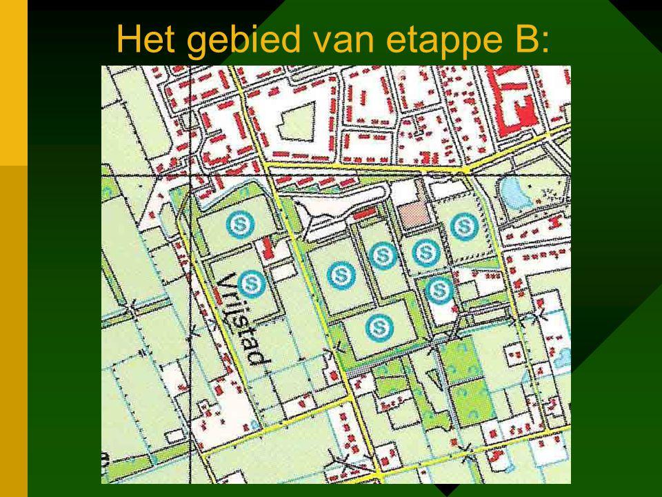 Het gebied van etappe B: