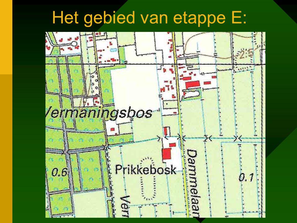 Het gebied van etappe E: