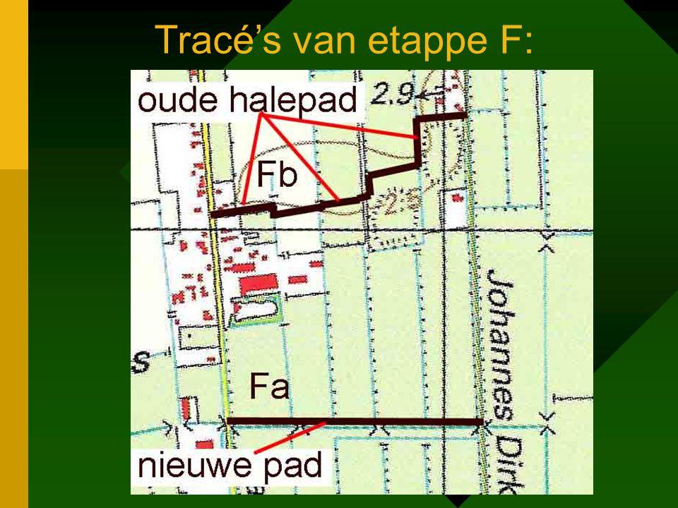 Tracé's van etappe F: