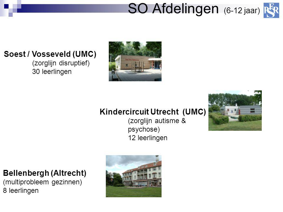 SO Afdelingen (6-12 jaar) Soest / Vosseveld (UMC) (zorglijn disruptief) 30 leerlingen Bellenbergh (Altrecht) (multiprobleem gezinnen) 8 leerlingen Kin