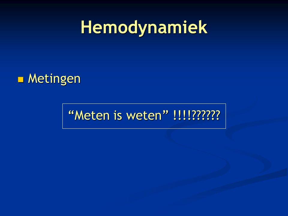 """Hemodynamiek Metingen Metingen """"Meten is weten"""" !!!!??????"""