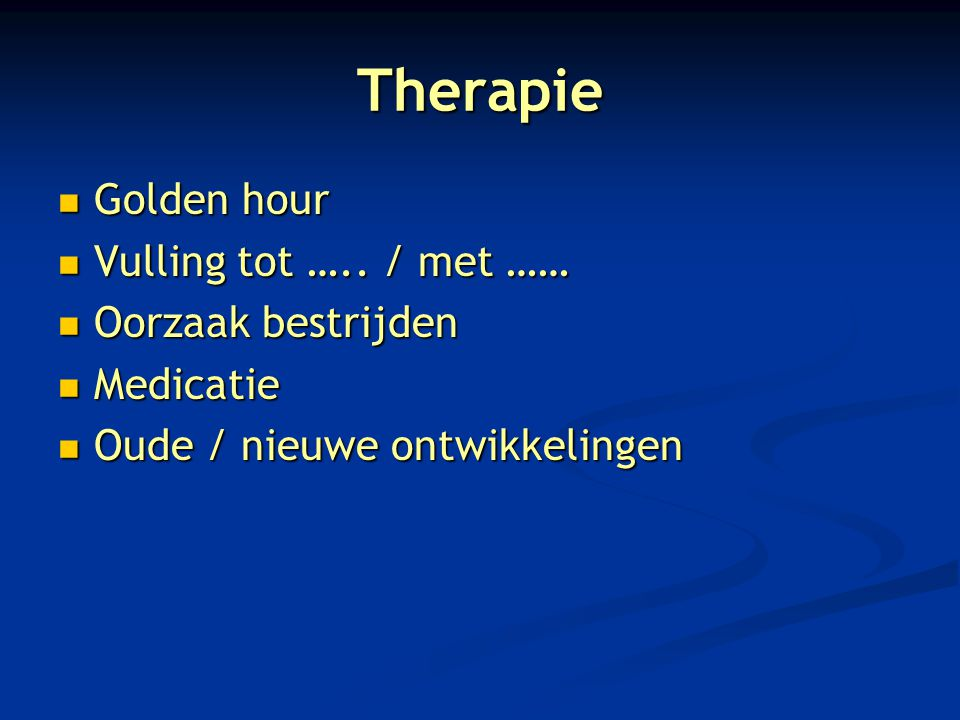 Therapie Golden hour Golden hour Vulling tot …../ met …… Vulling tot …..
