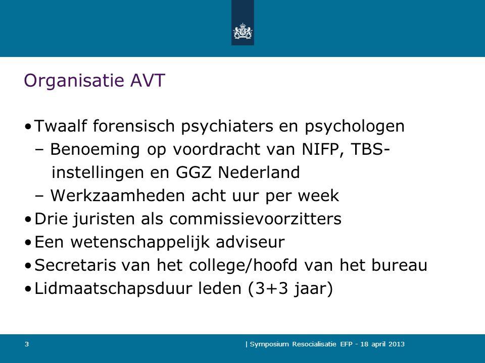 | Symposium Resocialisatie EFP - 18 april 2013 14 Doel was: Tijdens het verlof mag er niets mis gaan.