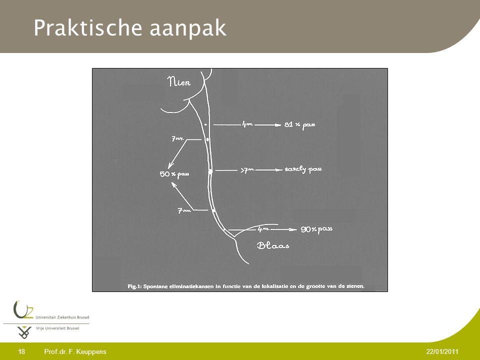 Prof.dr. F. Keuppens 18 22/01/2011 Praktische aanpak