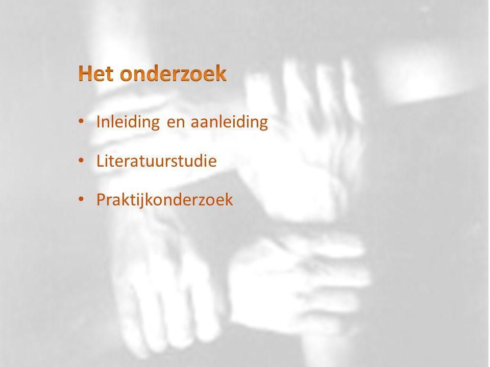 Onderzoekseenheden Onderzoekslocatie: de Vonk Noordwijkerhout, kliniek en dagkliniek Selectiecriteria: Inclusie- en exclusiecriteria Selectie respondenten kwantitatief onderzoek Selectie respondenten kwalitatief onderzoek
