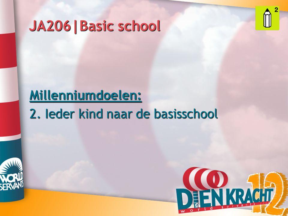 JA206|Basic school Millenniumdoelen: 2. Ieder kind naar de basisschool