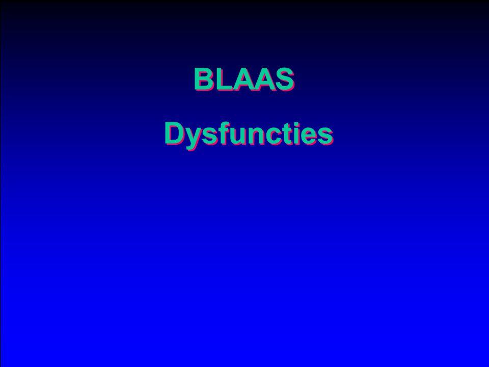 BLAAS Dysfuncties BLAAS Dysfuncties