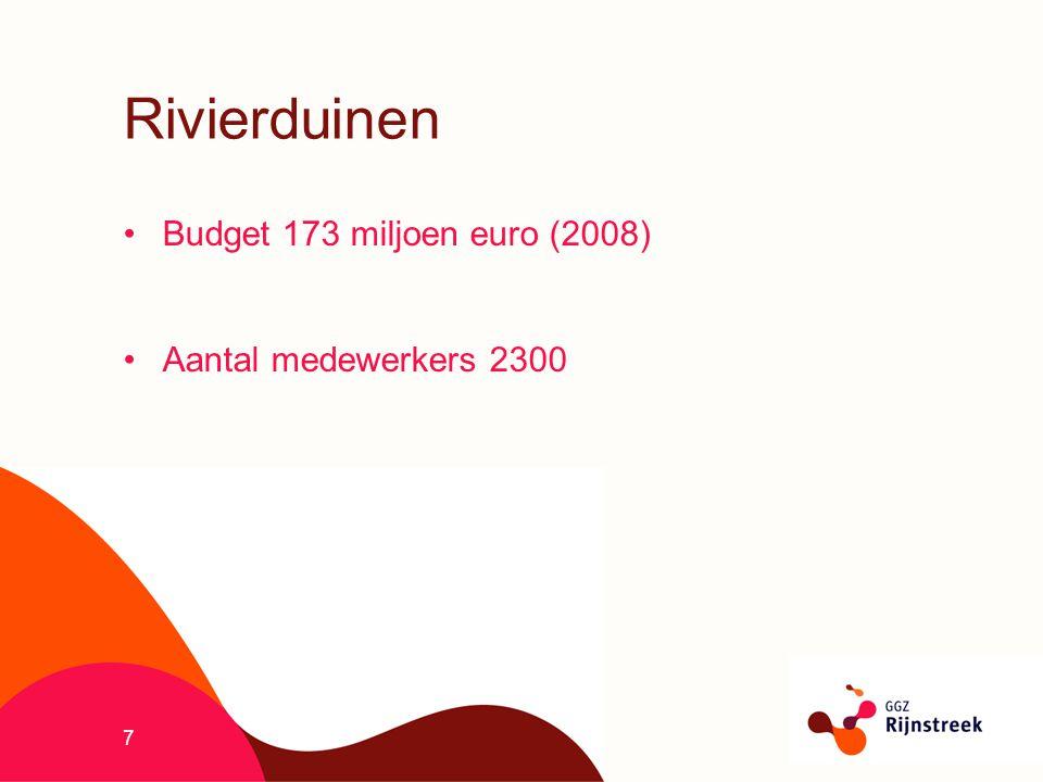 7 Rivierduinen Budget 173 miljoen euro (2008) Aantal medewerkers 2300