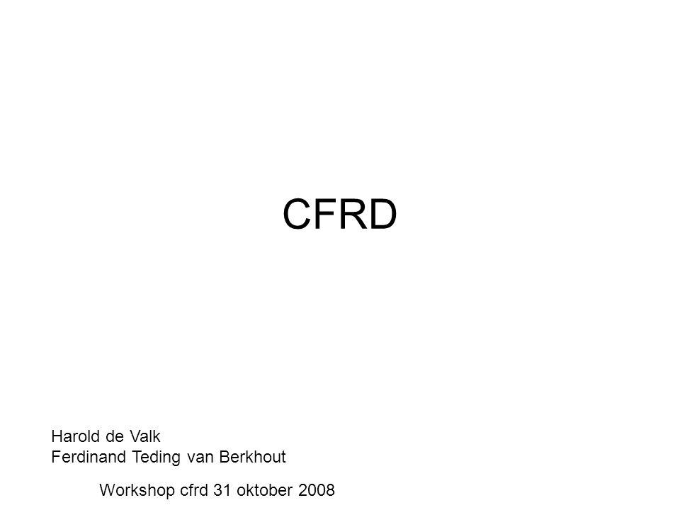 CFRD Harold de Valk Ferdinand Teding van Berkhout Workshop cfrd 31 oktober 2008