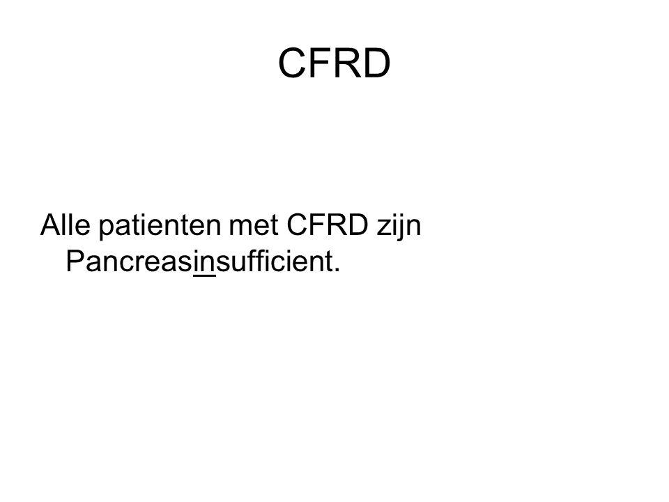 CFRD Alle patienten met CFRD zijn Pancreasinsufficient.