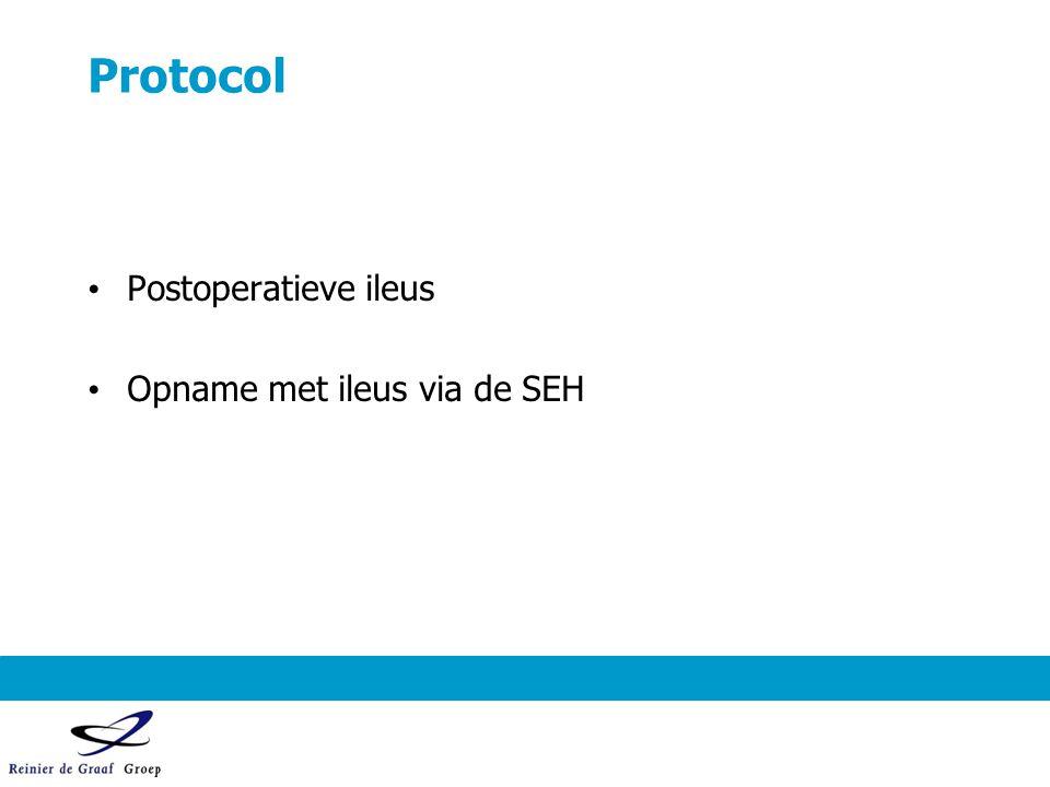 Protocol Postoperatieve ileus Opname met ileus via de SEH