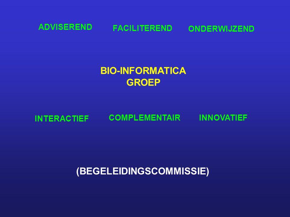 BIO-INFORMATICA GROEP ADVISEREND FACILITEREND ONDERWIJZEND INTERACTIEF COMPLEMENTAIRINNOVATIEF (BEGELEIDINGSCOMMISSIE)