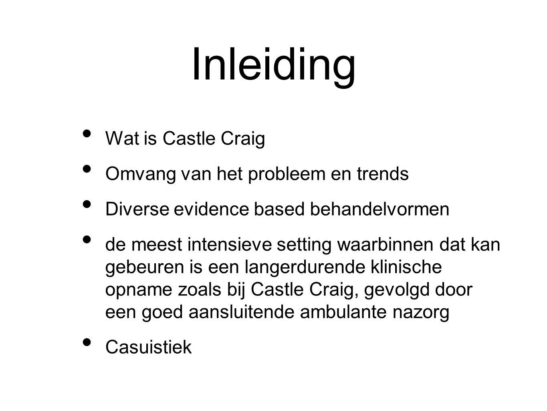 Inleiding Wat is Castle Craig Omvang van het probleem en trends Diverse evidence based behandelvormen de meest intensieve setting waarbinnen dat kan g