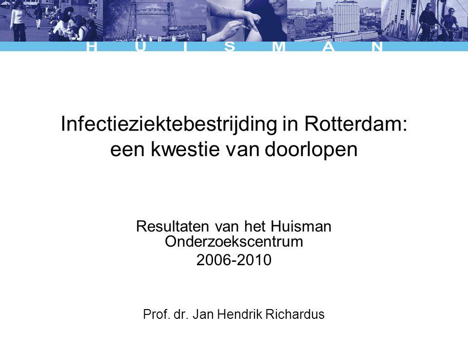 Infectieziektebestrijding in Rotterdam: een kwestie van doorlopen Resultaten van het Huisman Onderzoekscentrum 2006-2010 Prof. dr. Jan Hendrik Richard