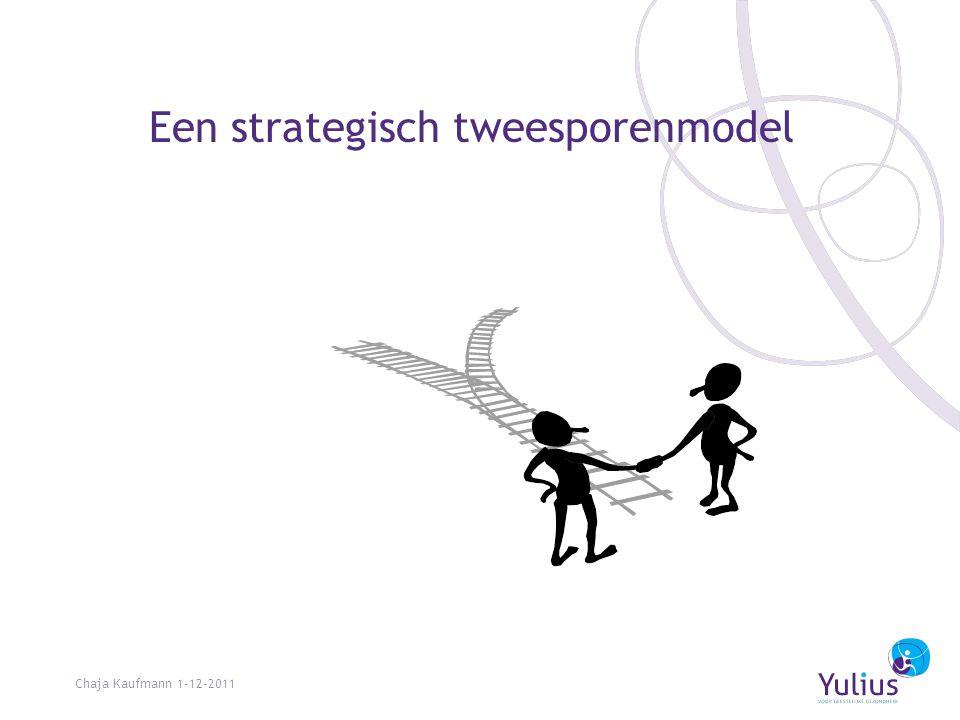 Een strategisch tweesporenmodel Chaja Kaufmann 1-12-2011