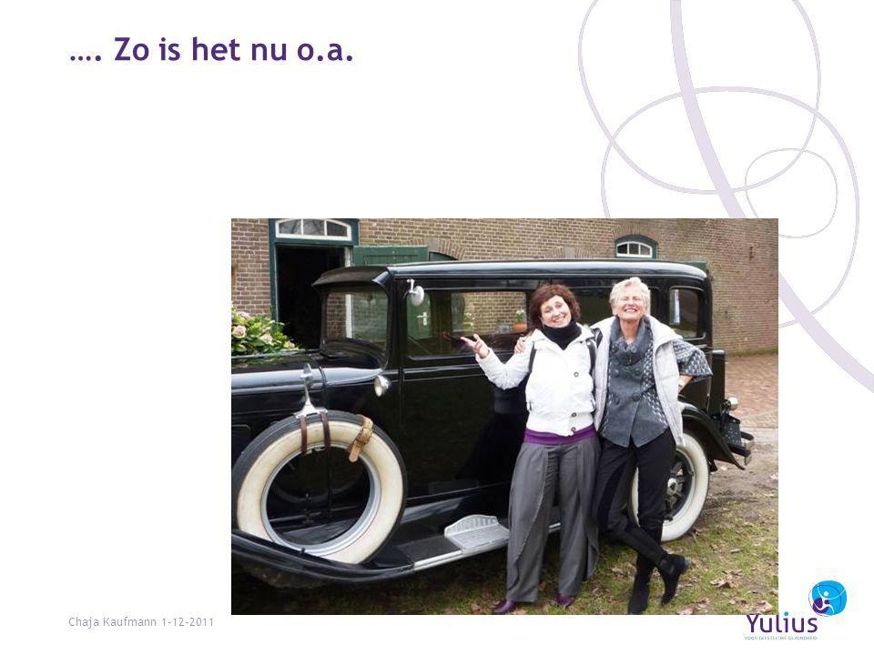…. Zo is het nu o.a. Chaja Kaufmann 1-12-2011