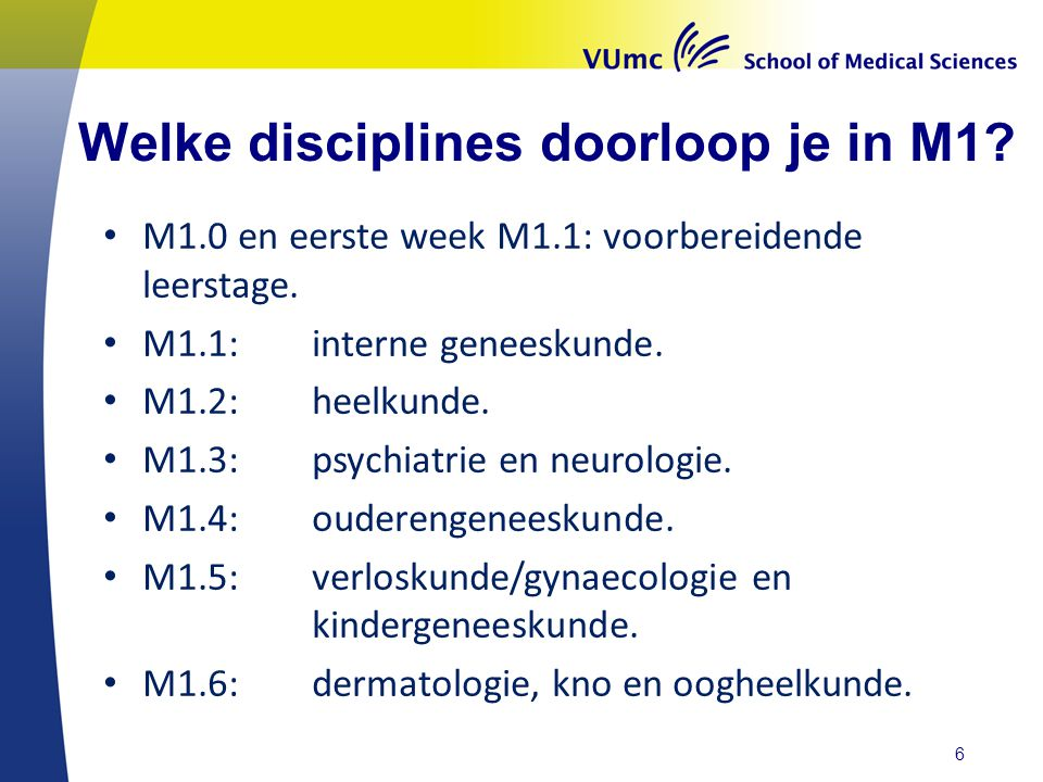 Welke disciplines doorloop je in M1.M1.0 en eerste week M1.1: voorbereidende leerstage.