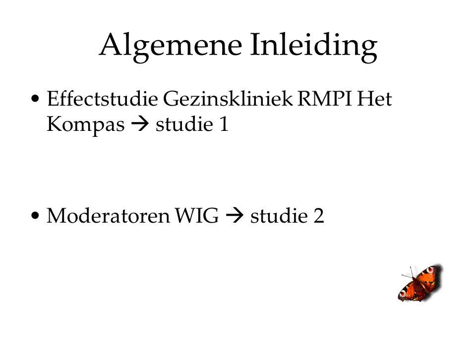 Algemene Inleiding Effectstudie Gezinskliniek RMPI Het Kompas  studie 1 Moderatoren WIG  studie 2