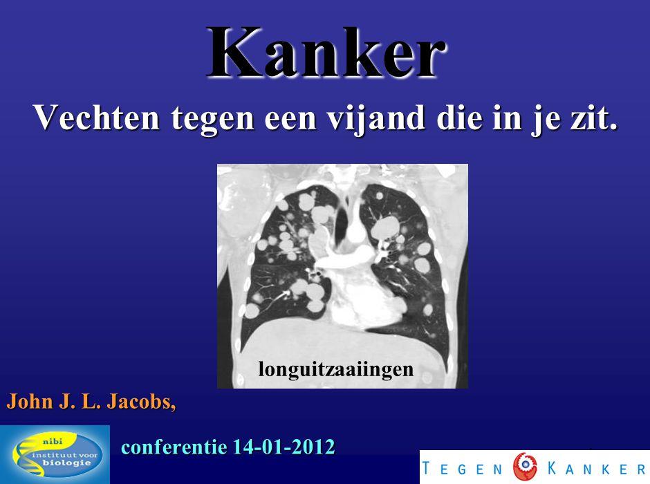 1 Kanker Vechten tegen een vijand die in je zit. John J. L. Jacobs, NIBI conferentie 14-01-2012 longuitzaaiingen