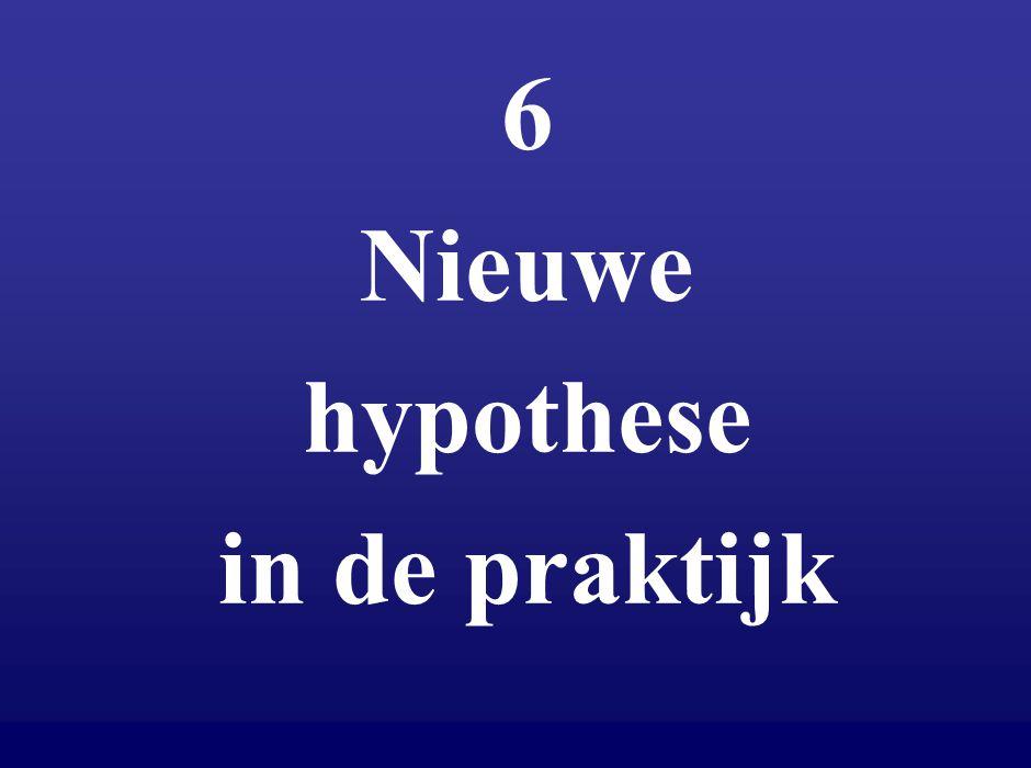 6 Nieuwe hypothese in de praktijk