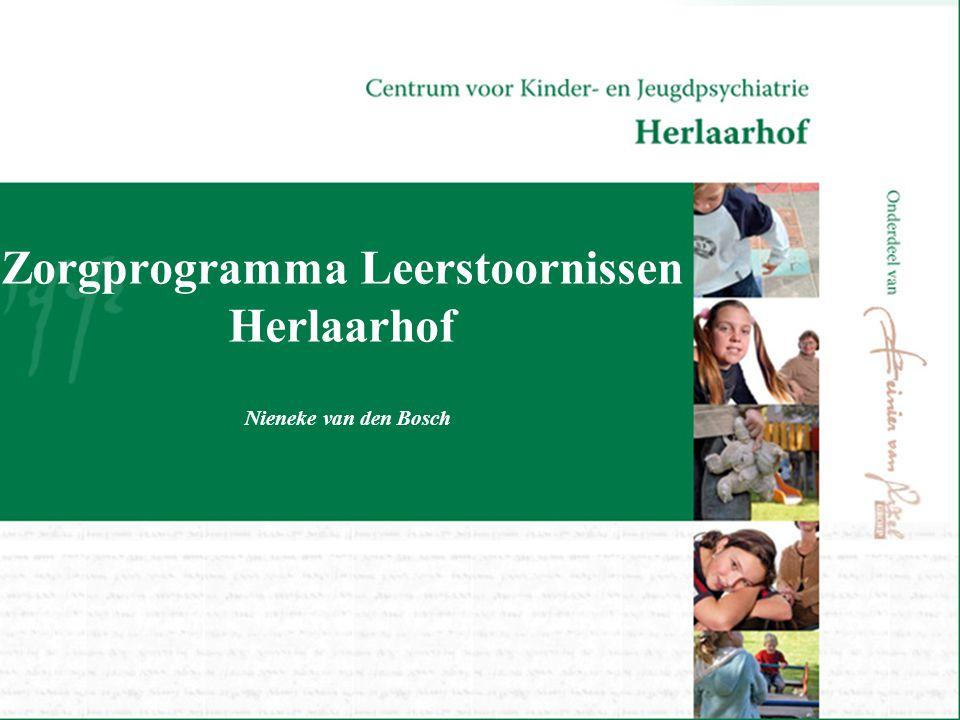 Zorgprogramma Leerstoornissen Herlaarhof Nieneke van den Bosch