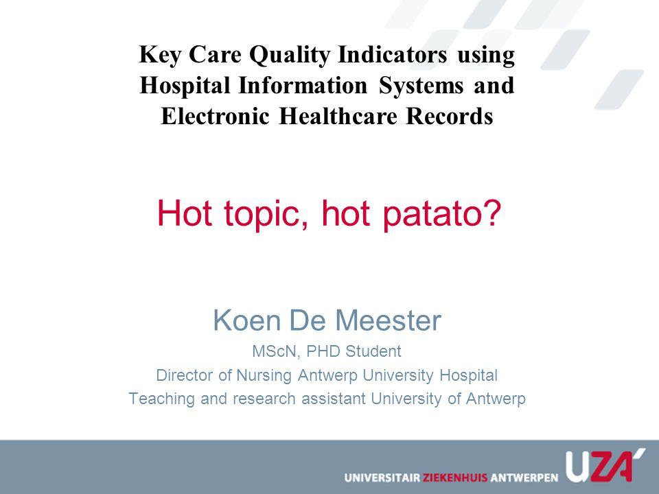 De specialisten dinsdag 25 januari 2011 om 11u48 Alle Vlaamse ziekenhuizen willen tegen 2013 een website realiseren waarop burgers de kwaliteit van de geleverde zorg kunnen vergelijken.