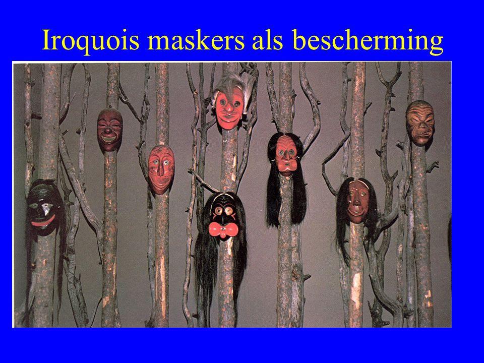 Iroquois maskers als bescherming