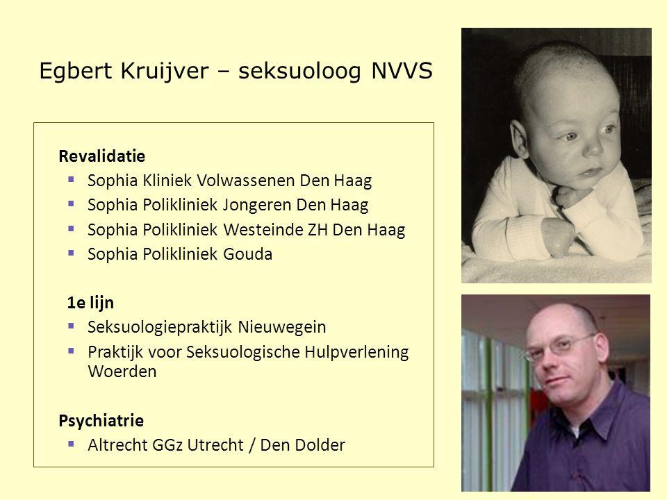 Egbert Kruijver – seksuoloog NVVS Revalidatie  Sophia Kliniek Volwassenen Den Haag  Sophia Polikliniek Jongeren Den Haag  Sophia Polikliniek Westei