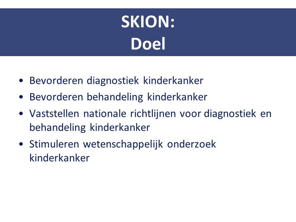 Bevorderen diagnostiek kinderkanker Bevorderen behandeling kinderkanker Vaststellen nationale richtlijnen voor diagnostiek en behandeling kinderkanker