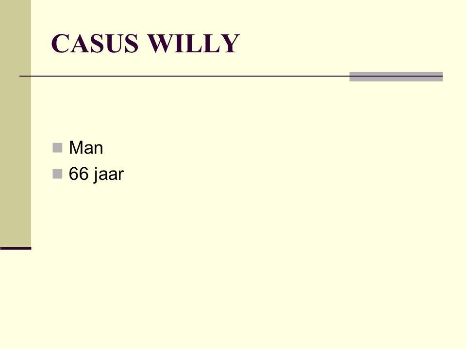 CASUS WILLY Man 66 jaar
