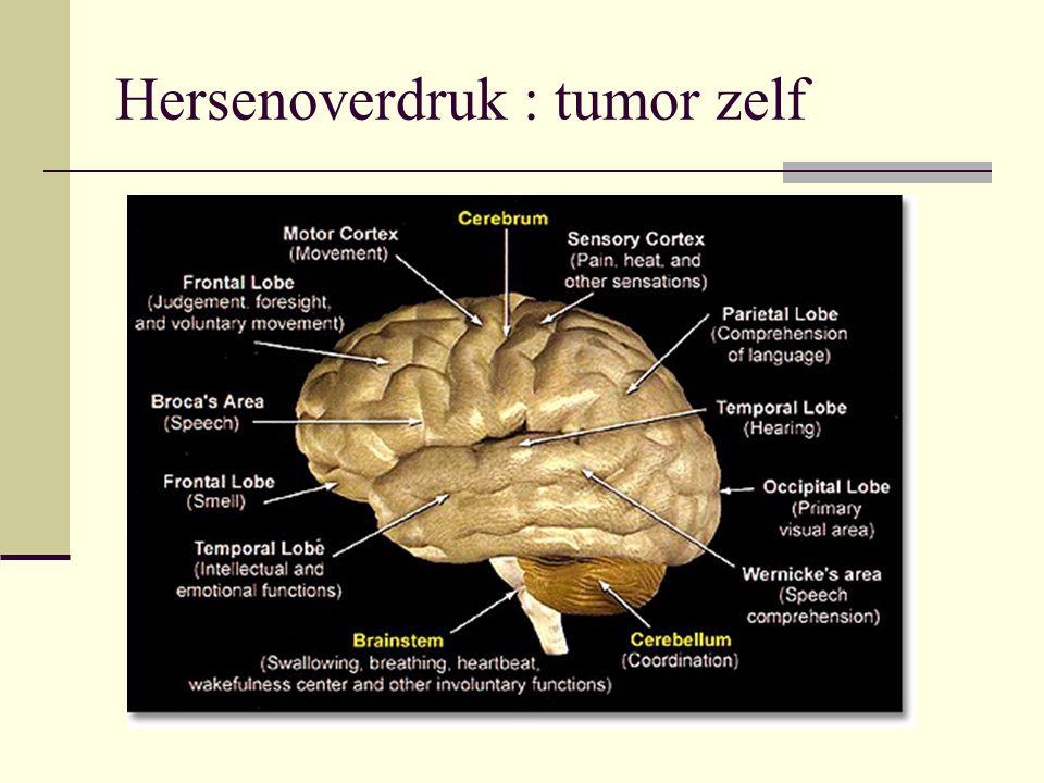 Hersenoverdruk : tumor zelf