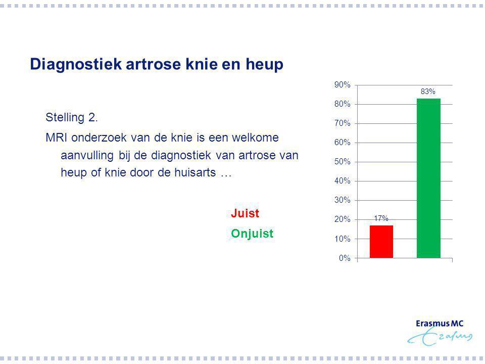 Diagnostiek artrose knie en heup Stelling 2.