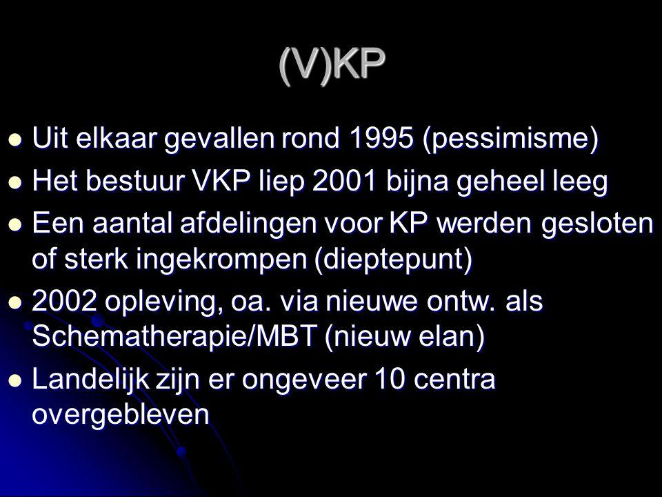 (V)KP Uit elkaar gevallen rond 1995 (pessimisme) Uit elkaar gevallen rond 1995 (pessimisme) Het bestuur VKP liep 2001 bijna geheel leeg Het bestuur VK