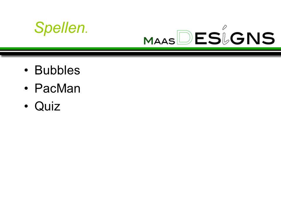 Spellen. Bubbles PacMan Quiz