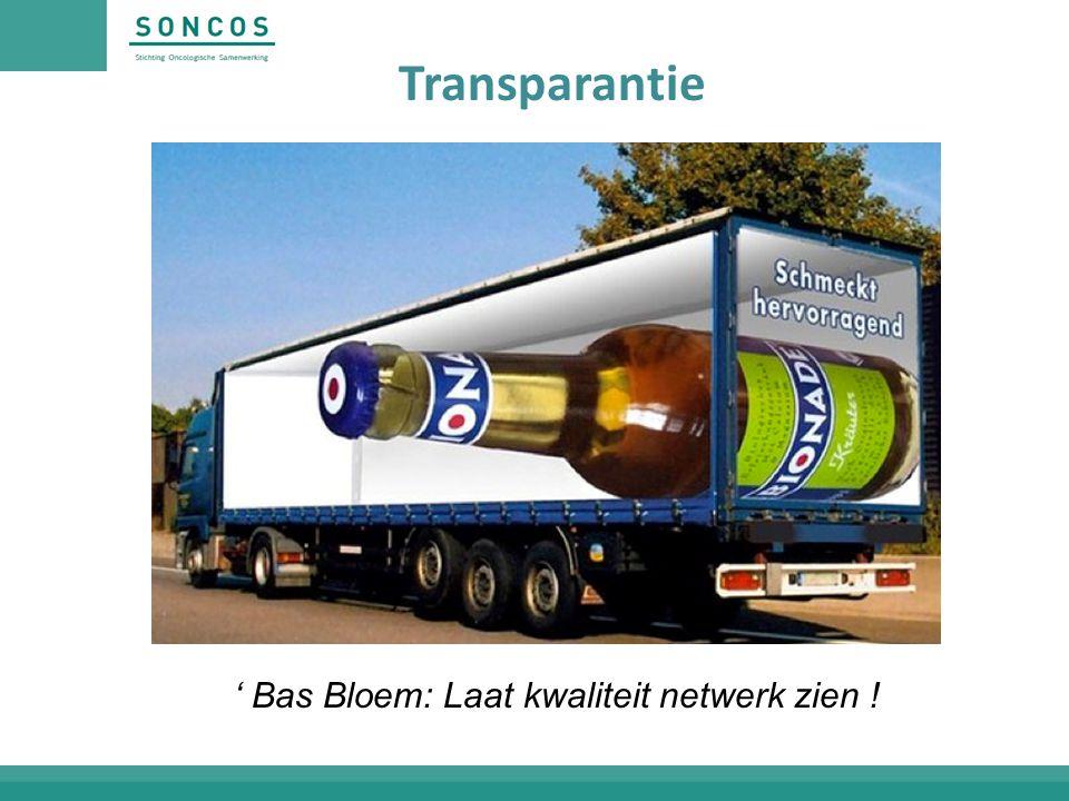 Transparantie ' Bas Bloem: Laat kwaliteit netwerk zien !