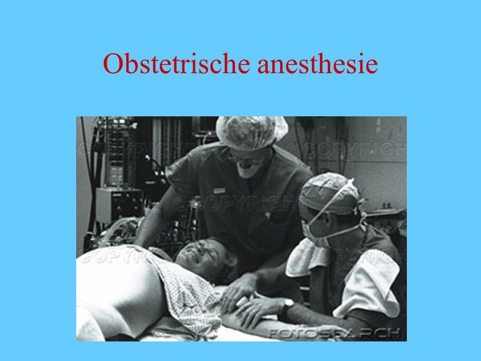 Obstetrische anesthesie