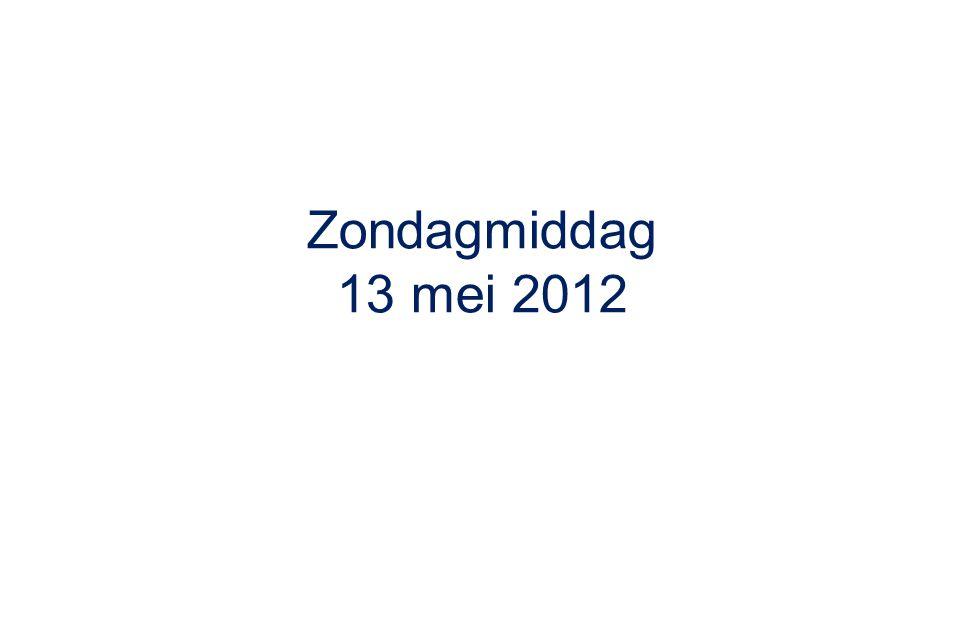 Zondagmiddag 13 mei 2012