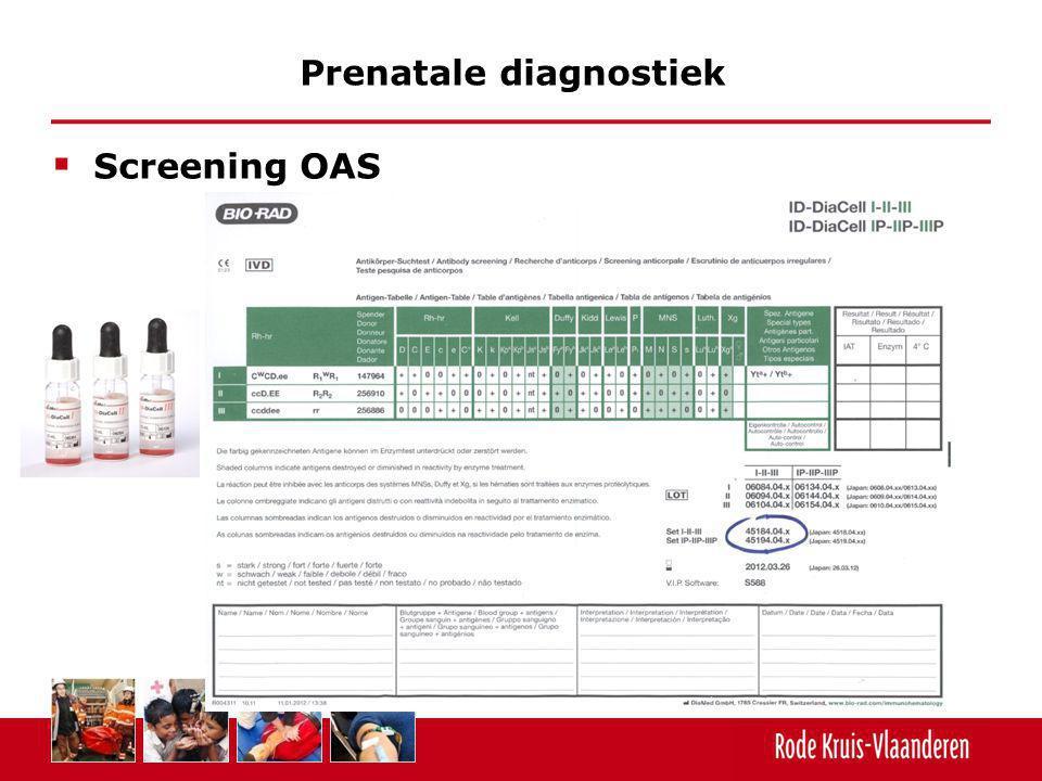  Screening OAS Prenatale diagnostiek