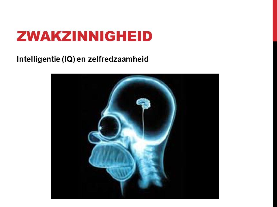 ZWAKZINNIGHEID Intelligentie (IQ) en zelfredzaamheid