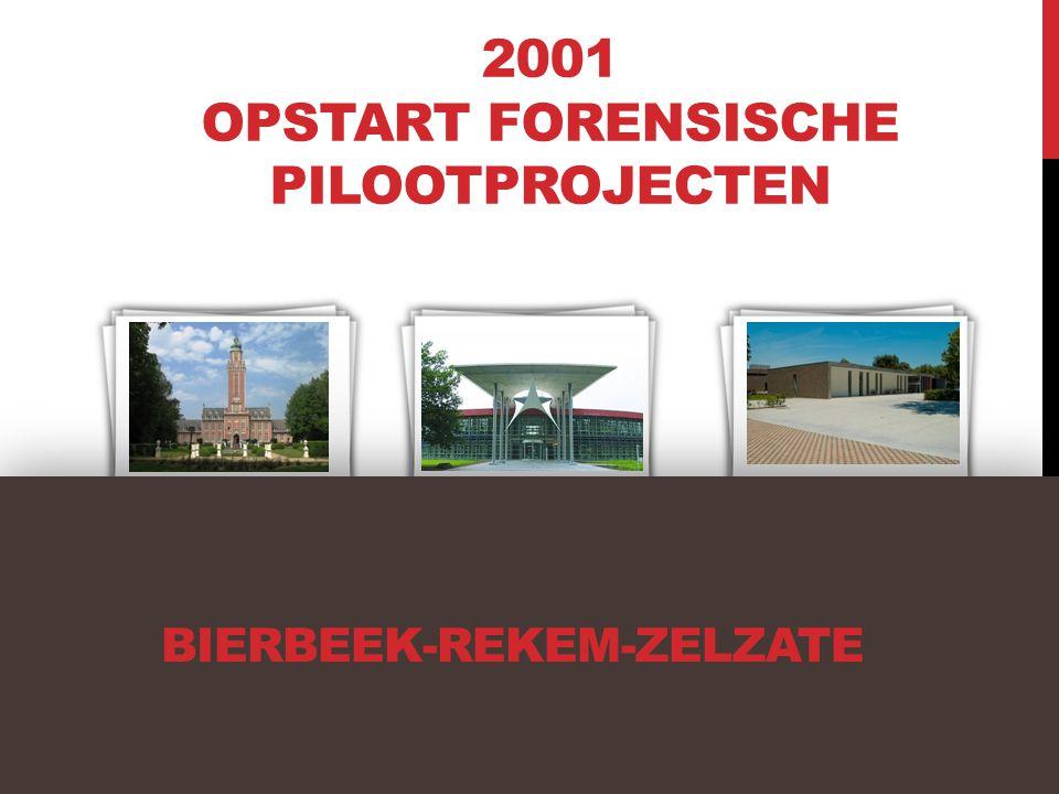 BIERBEEK-REKEM-ZELZATE 2001 OPSTART FORENSISCHE PILOOTPROJECTEN PC BierbeekPC ZelzatePOZ Rekem